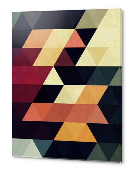 Pattern cosmic triangles Acrylic prints by Vitor Costa
