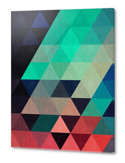 Pattern cosmic triangles I Acrylic prints by Vitor Costa