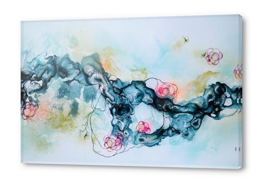 Flame Acrylic prints by darling