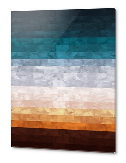 Minimalist landscape watercolor Acrylic prints by Vitor Costa