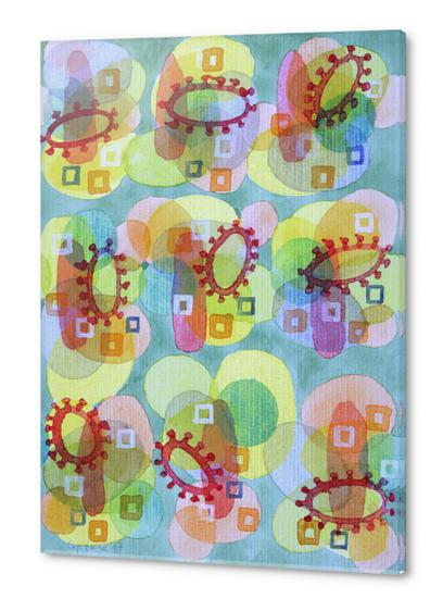 Lovely Pattern with Red Rings  Acrylic prints by Heidi Capitaine