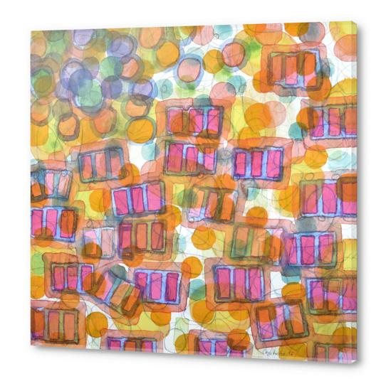 Happy Pattern with Pink Blocks Acrylic prints by Heidi Capitaine