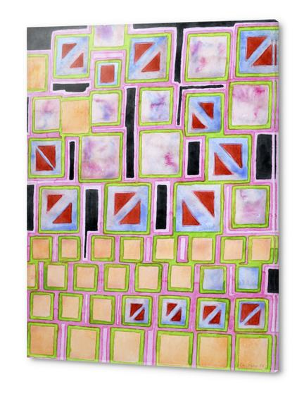 Composition out of Three Kind of Squares Acrylic prints by Heidi Capitaine