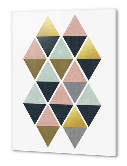 Colorful and golden triangles Acrylic prints by Vitor Costa