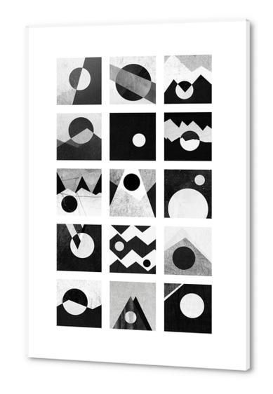 Black & white / Circles & squares Acrylic prints by Elisabeth Fredriksson