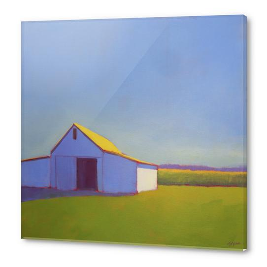 Corn Fields and Moody Blues 1 Acrylic prints by Carol C Young. The Creative Barn