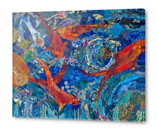 Koi Pond Acrylic prints by Elizabeth St. Hilaire