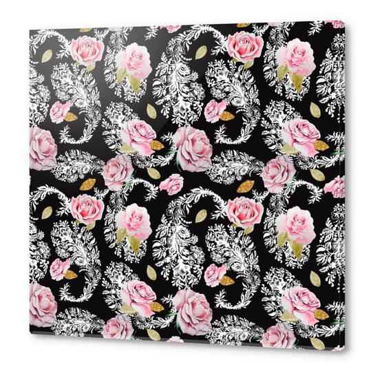 Flowering roses in the paisley Acrylic prints by mmartabc