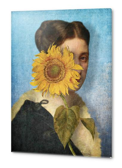 Girl with Sunflower 2 Acrylic prints by DVerissimo
