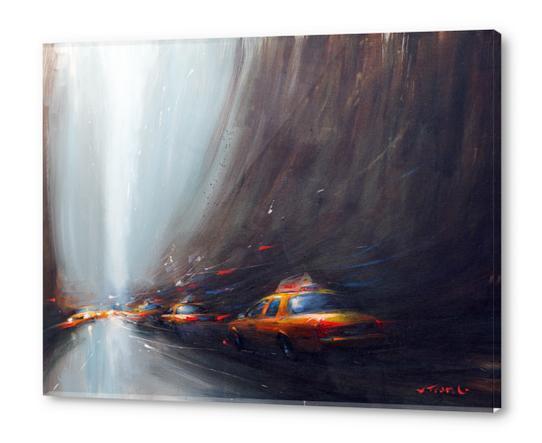 Taxi sliders Acrylic prints by Vantame