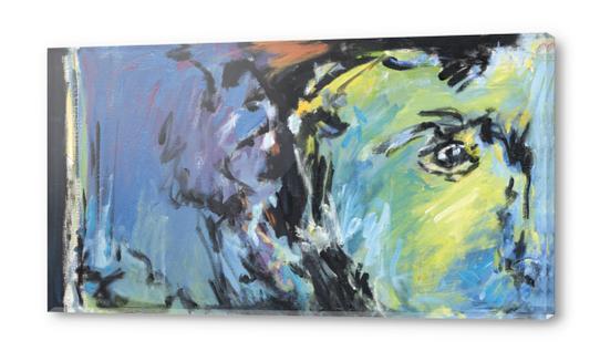 Lion Diptych - Left Acrylic prints by Georgio Fabrello
