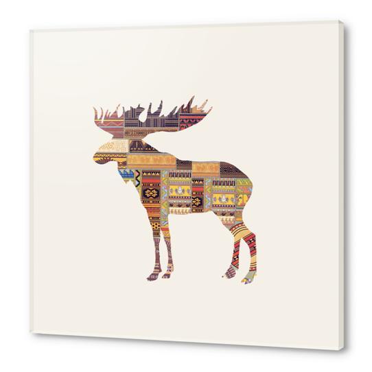 Elk Acrylic prints by Oleg Borodin