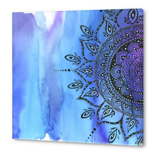 Blue Mandala Acrylic prints by Li Zamperini