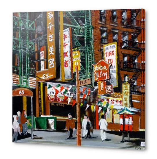 quartier chinois new york Acrylic prints by Koen De Weerdt