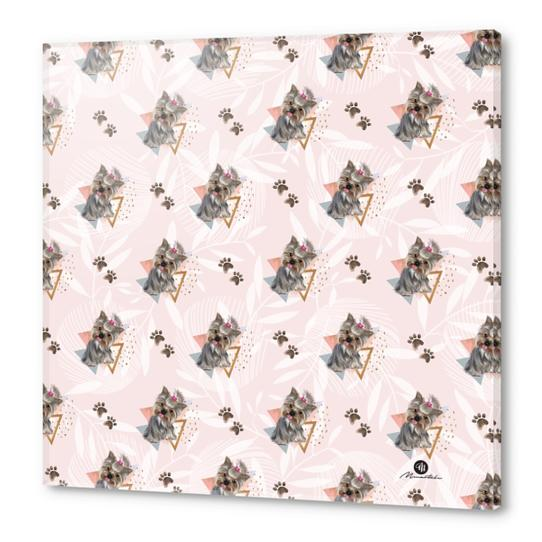 Pattern dog & triangles Acrylic prints by mmartabc