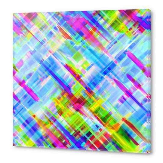 Colorful digital art splashing G468 Acrylic prints by MedusArt