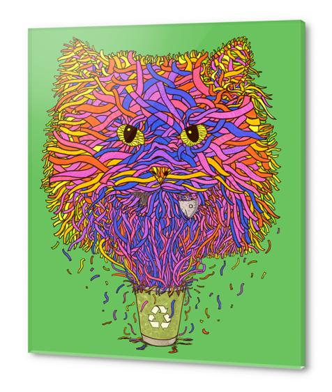Recycle cat Acrylic prints by Tummeow