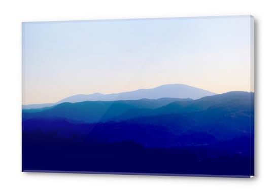 Sunset in Rhodes Shades of Indigo Acrylic prints by fokafoka