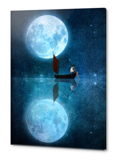 The Moon And Me Acrylic prints by DVerissimo