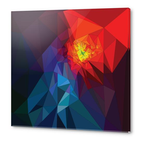 Colorful Triangles Acrylic prints by PIEL Design