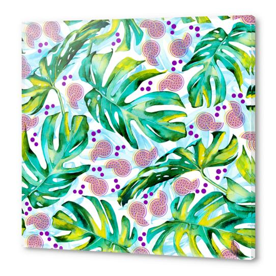 Tropical leaf and fruits Acrylic prints by mmartabc