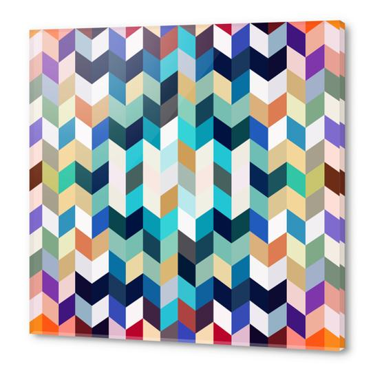 Colorful Geometric Background Acrylic prints by Amir Faysal