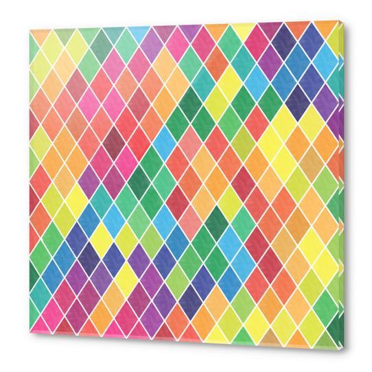 Colorful Geometric  Acrylic prints by Amir Faysal