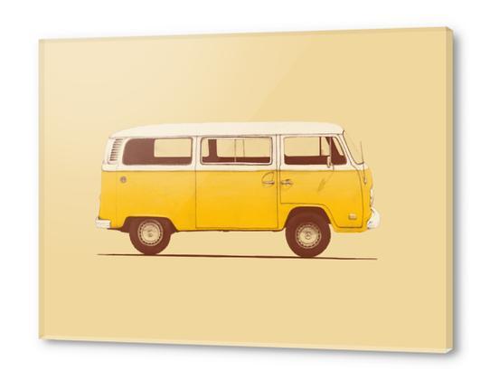 Yellow Van Acrylic prints by Florent Bodart - Speakerine