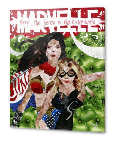 need the heros in this crazy world Acrylic prints by frayartgrafik