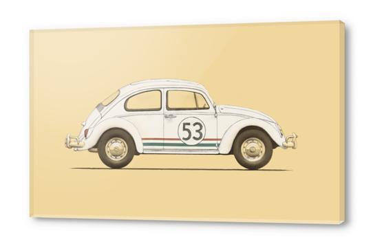 Famous Car - VW Beetle Acrylic prints by Florent Bodart - Speakerine