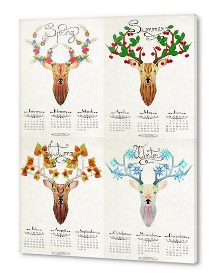 deer calendar 2015 Acrylic prints by Manoou