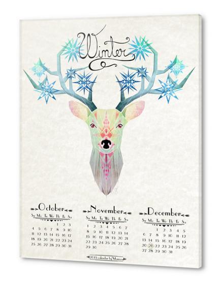 deer winter Acrylic prints by Manoou