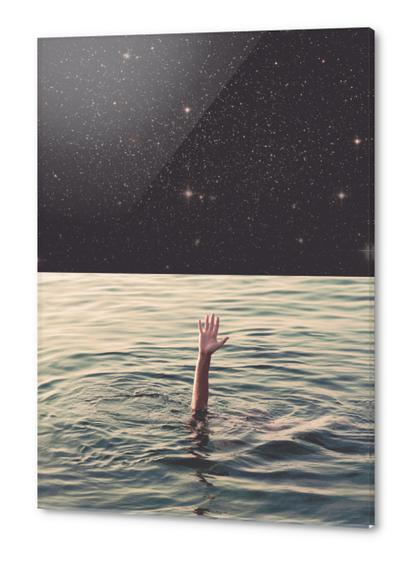 Drowned in space Acrylic prints by lacabezaenlasnubes