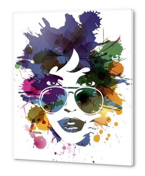 Femme à Lunettes... Acrylic prints by Vic Storia