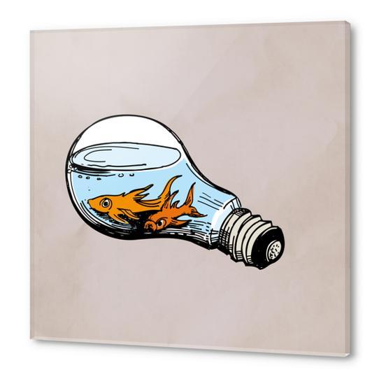 Fishes-Bulb Acrylic prints by Georgio Fabrello