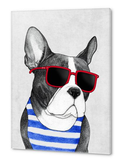 Frenchie Summer Style Acrylic prints by Barruf