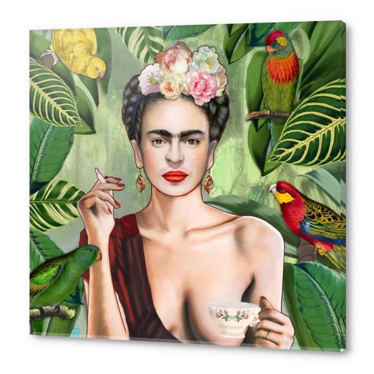 Frida con amigos Acrylic prints by Nettsch