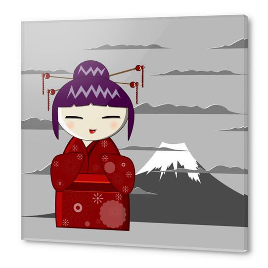 Fuji kokeshi Acrylic prints by PIEL Design