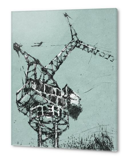 Crane Acrylic prints by Georgio Fabrello