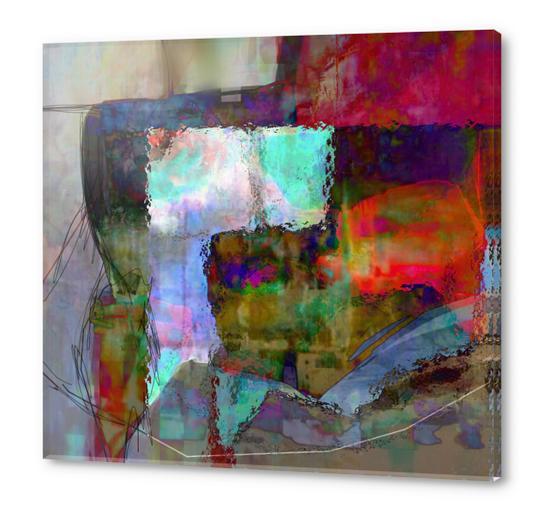 Espace temps Acrylic prints by jacques chiron