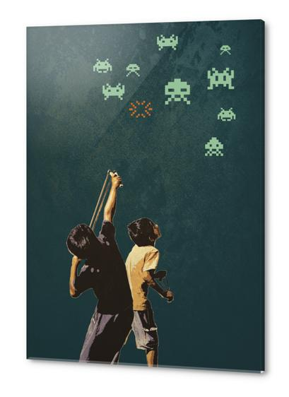 Invaders! Acrylic prints by tzigone