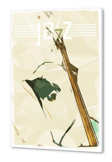 Contrabassist. Jazz Club Poster Acrylic prints by cinema4design