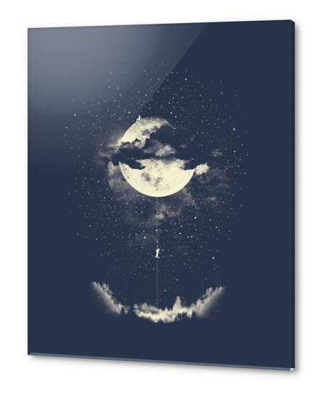 MOON CLIMBING Acrylic prints by Miro Zatkuliak