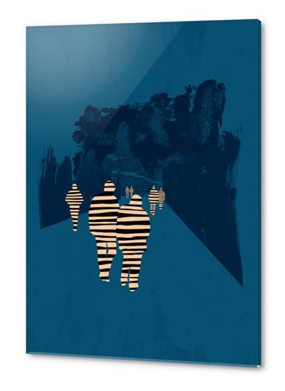 walking for oblivion Acrylic prints by junillu