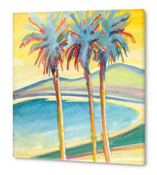 Palm Tree on the French Riviera Acrylic prints by Georgio Fabrello