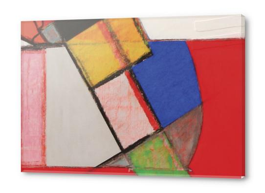Pendule Acrylic prints by Pierre-Michael Faure