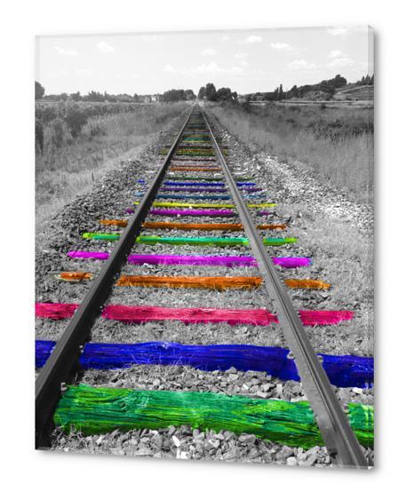 Rainbow Railway Acrylic prints by Ivailo K