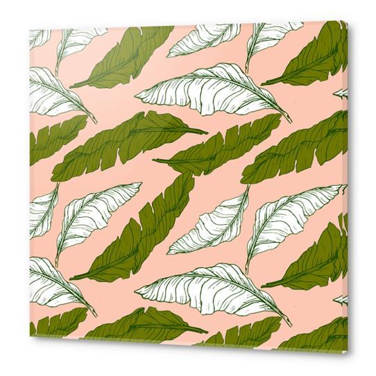 Pattern leaf leaf Acrylic prints by mmartabc