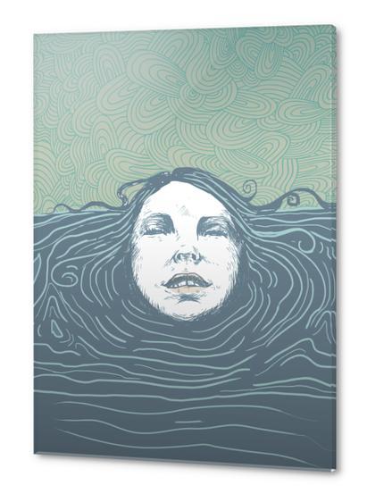 Sea-face Acrylic prints by tzigone