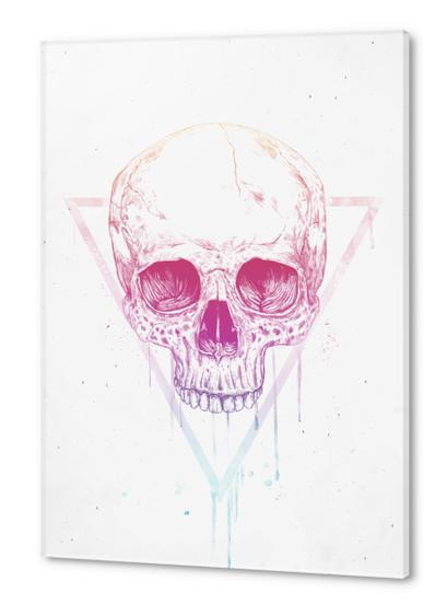 Skull in triangle Acrylic prints by Balazs Solti